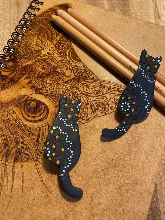 Brosa handmade pisicuta 7