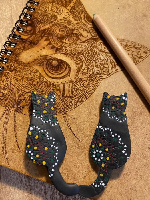 Brosa handmade pisicuta 8