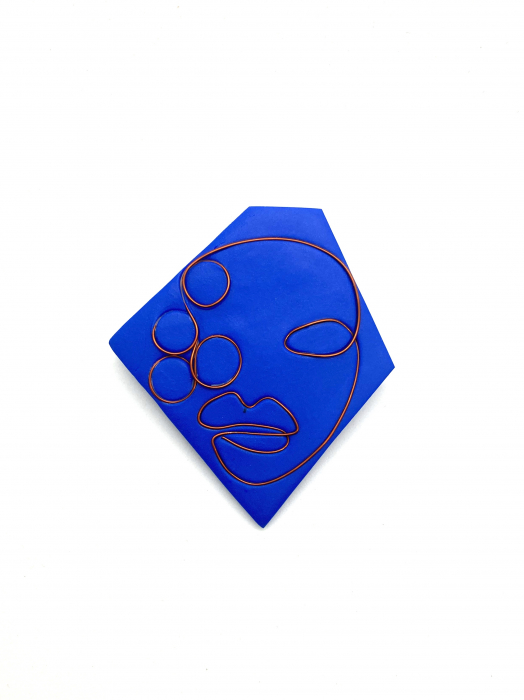 Brosa handmade albastra 9