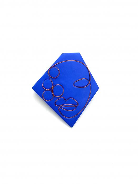 Brosa handmade albastra 2