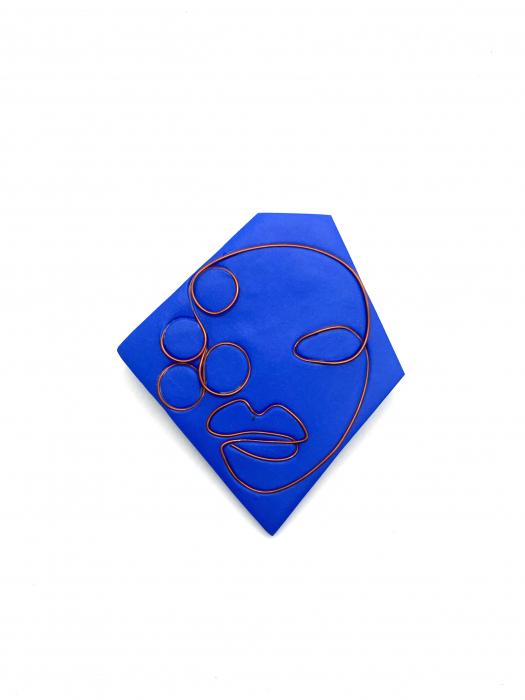 Brosa handmade albastra 8