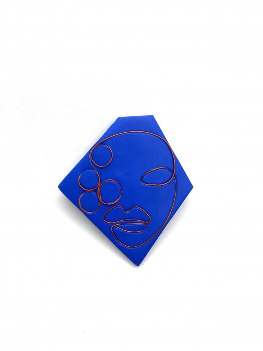 Brosa handmade albastra 4