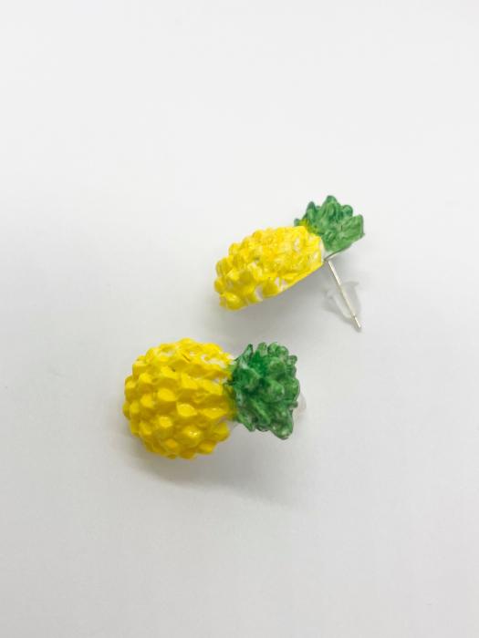 Cercei cu ananas cercercei handmade [0]