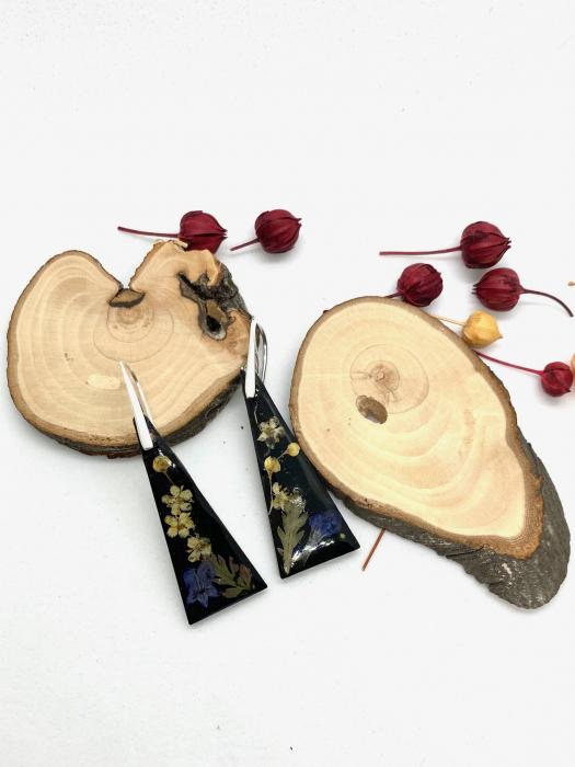 Cercei din petale de floare handmade [1]