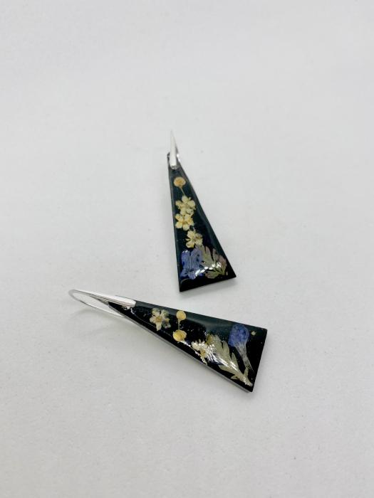 Cercei din petale de floare handmade [2]
