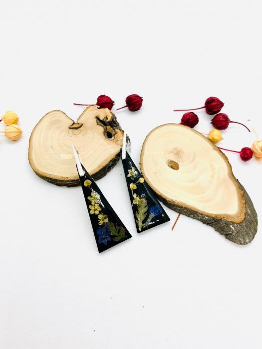 Cercei din petale de floare handmade [3]