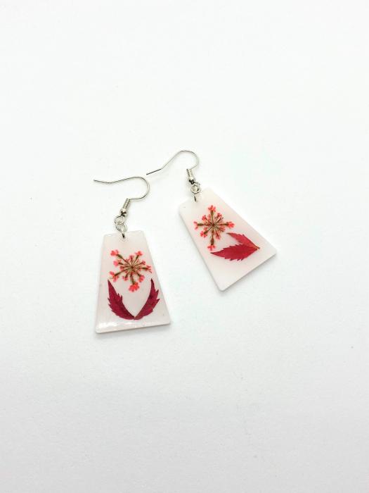 Cercei cu frunze cercercei - Cercei handmade [1]