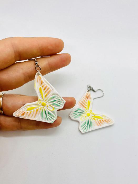 Cercei cu fluturi din argint - handmade [12]