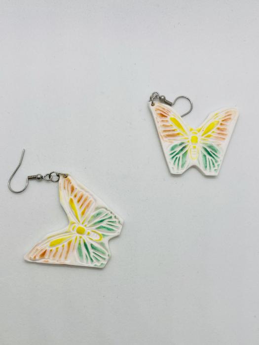 Cercei cu fluturi din argint - handmade [11]
