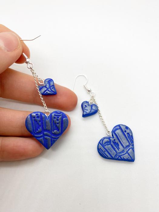 Cercei handmade cu inimi [3]