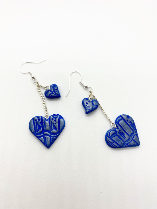 Cercei handmade cu inimi [2]