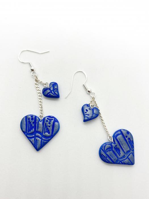 Cercei handmade cu inimi [0]