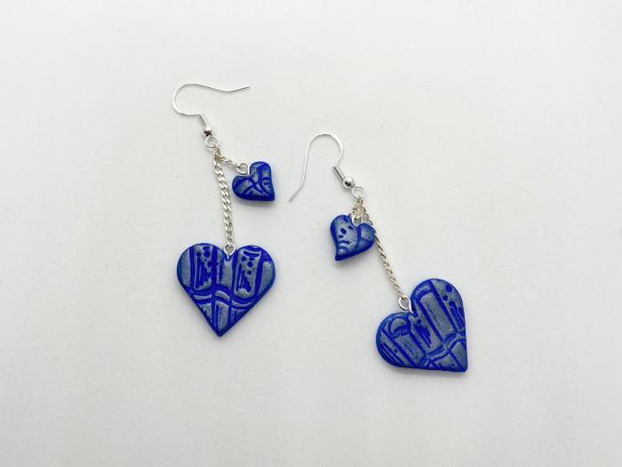 Cercei handmade cu inimi [1]