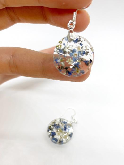 Cercei cu flori mici - Cercei Handmade [2]