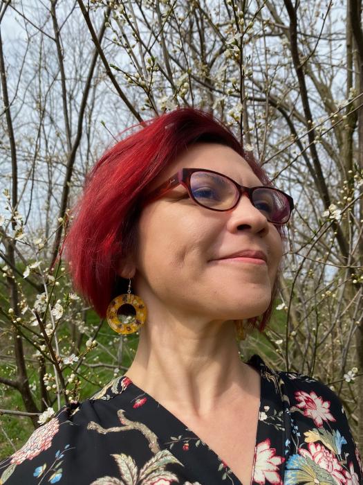 Cercei cu petale galbene si flori [2]