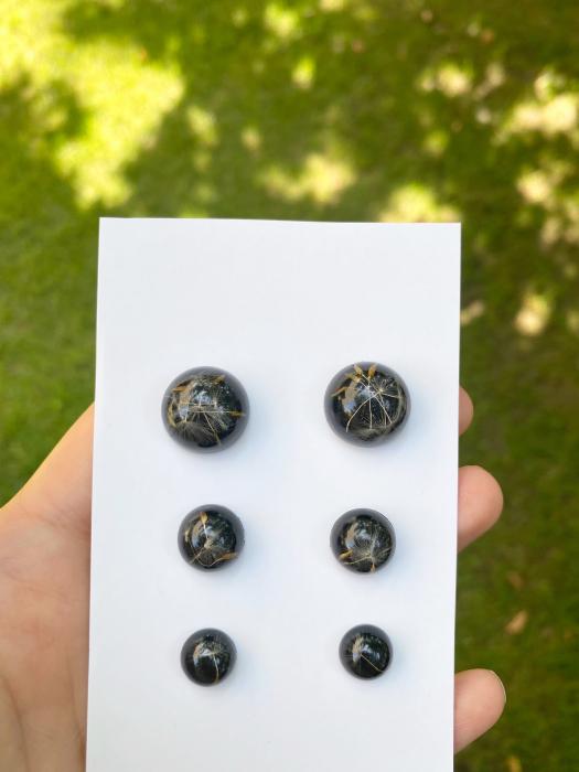 Cercei din argint cu puf de papadie [11]