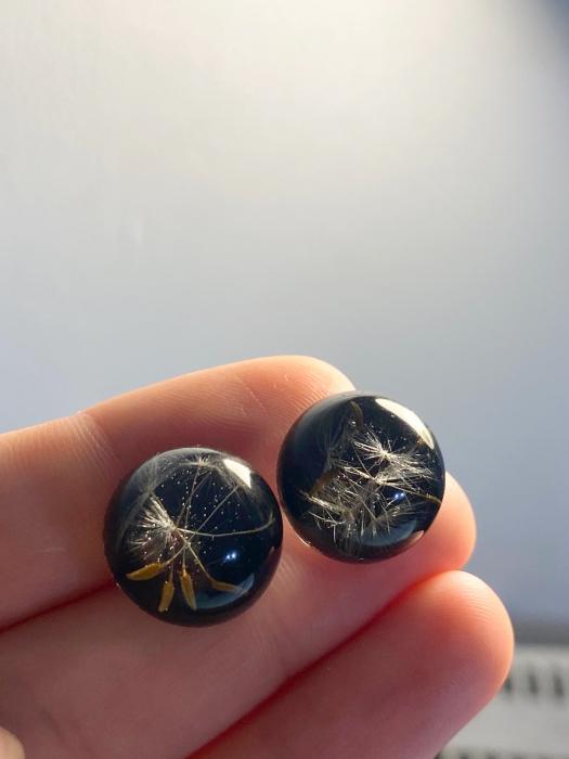 Cercei din argint cu puf de papadie [2]