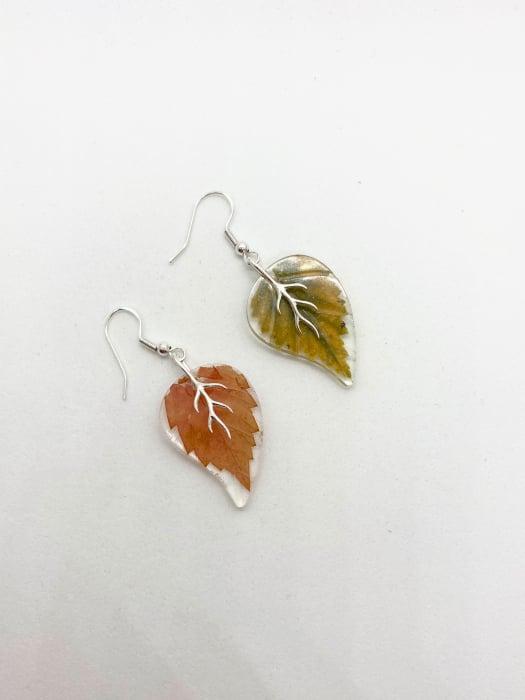 Cercei frunze de toamna din argint 0