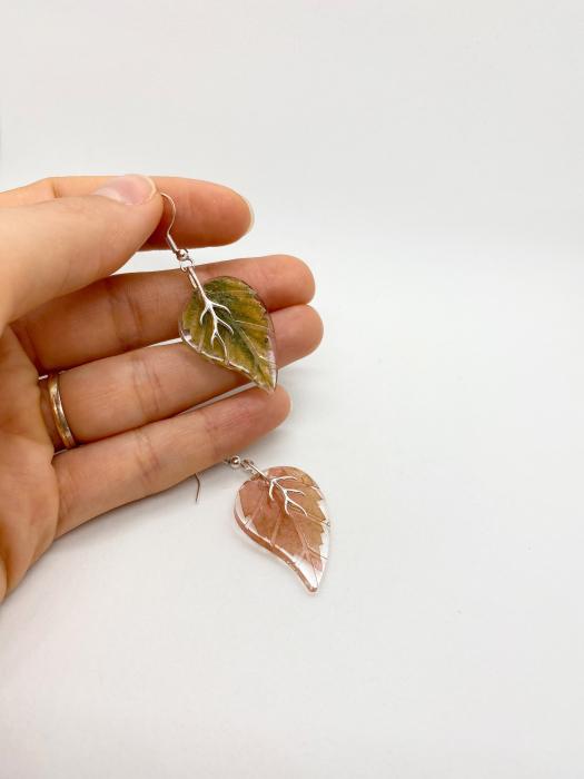 Cercei frunze de toamna din argint [2]