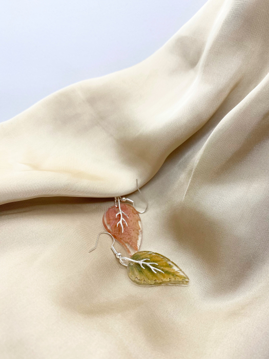 Cercei frunze de toamna din argint 3