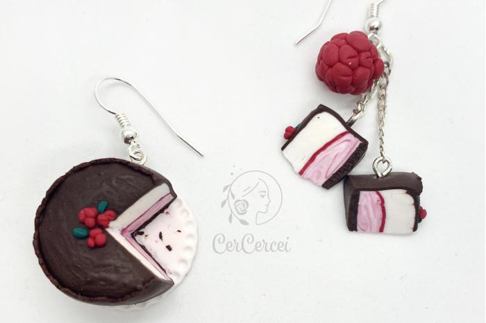 Cercei tort cu zmeura si ciocolata cercercei [6]