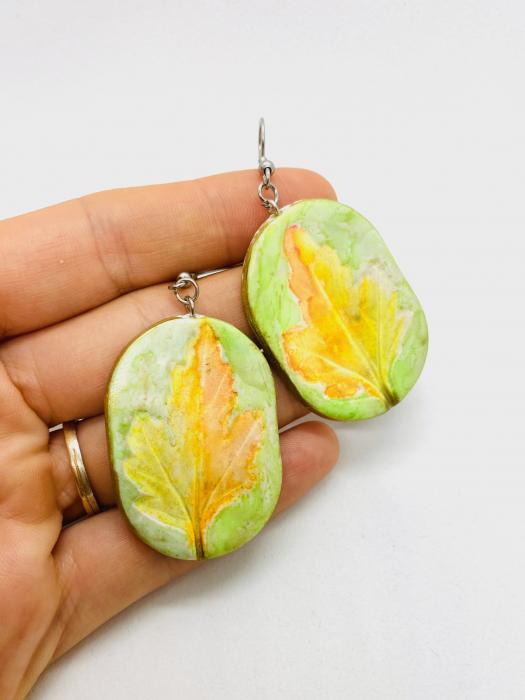 Cercei cu frunza handmade [5]