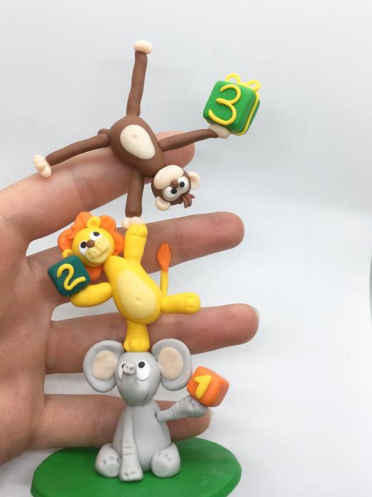 Figurina de tort cu animale - 3 ani - handmade [5]