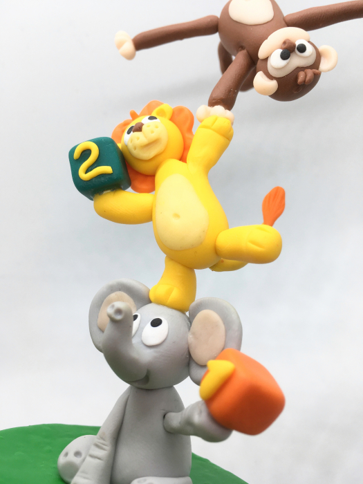 Figurina de tort cu animale - 3 ani - handmade [2]