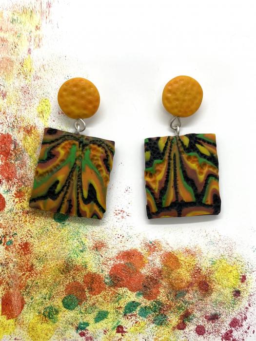Cercei de toamna - UNICAT handmade 3