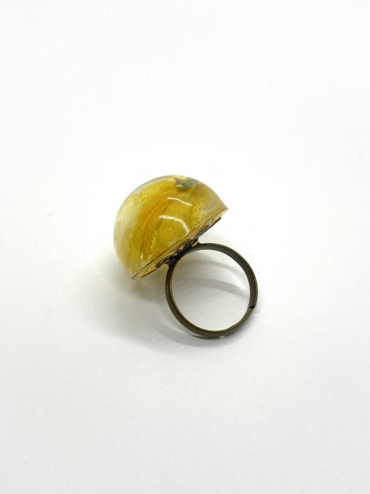 Inel cu floare galbena cercercei [1]