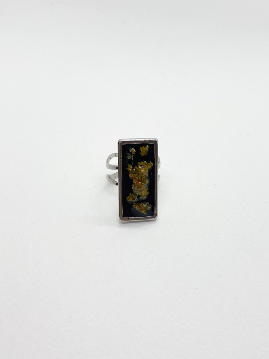 Inel cu licheni - Inel handmade 2