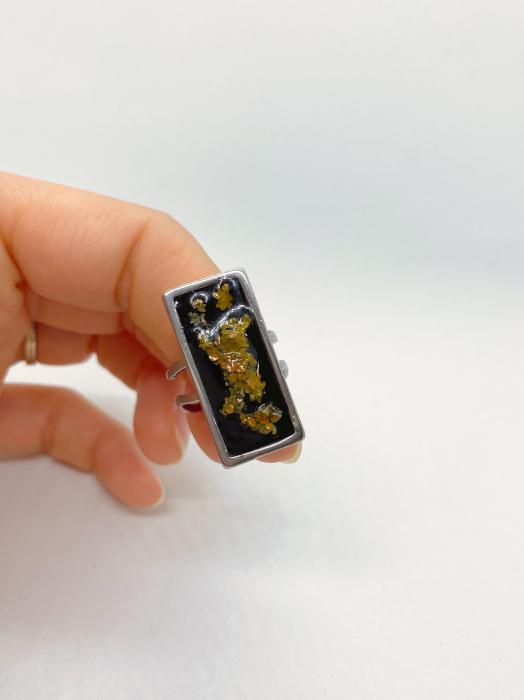 Inel cu licheni - Inel handmade 0