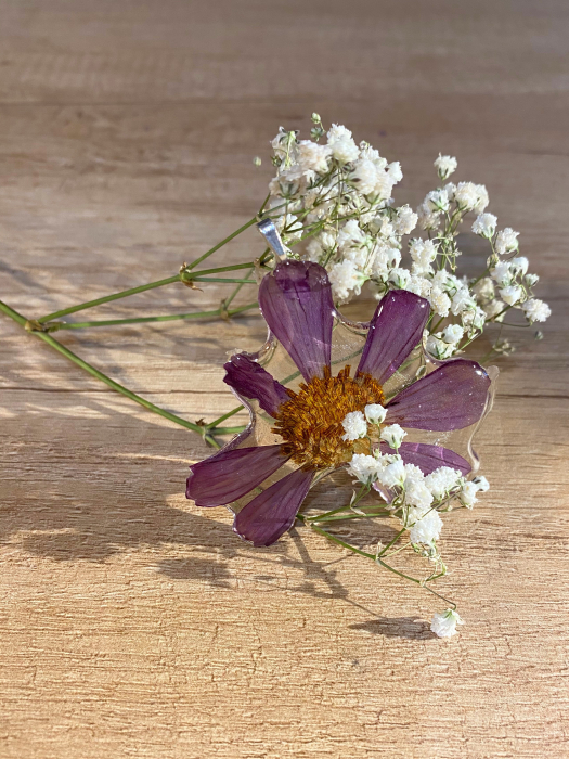 Pandantiv cu floare de camp mov [8]