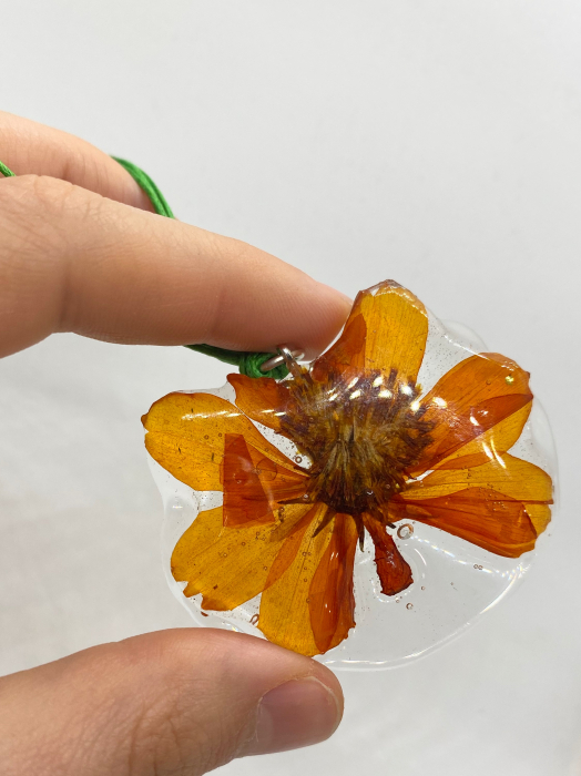 Pandantiv cu floare de camp portocalie [5]