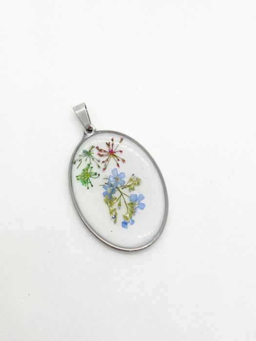 Pandantiv cu flori de nu ma uita [0]