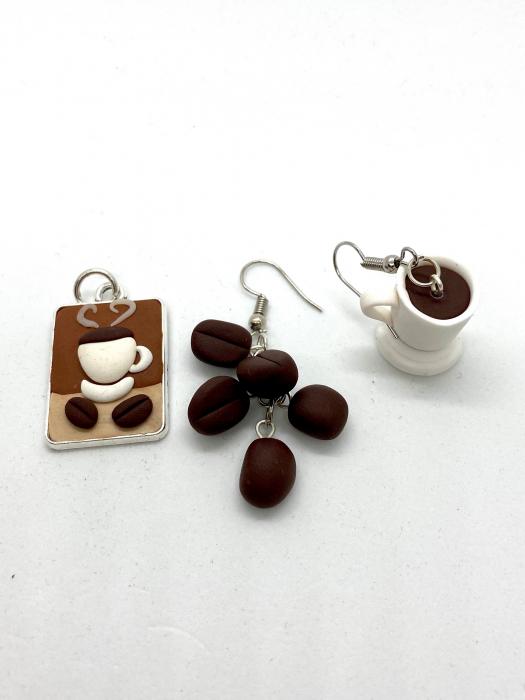 Set cafea din lut polimeric  - Handmade [0]