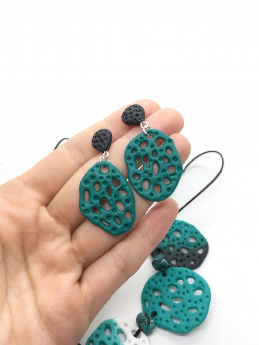 Set de bijuterii turcoaz handmade 0