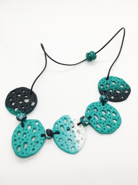 Set de bijuterii turcoaz handmade 2