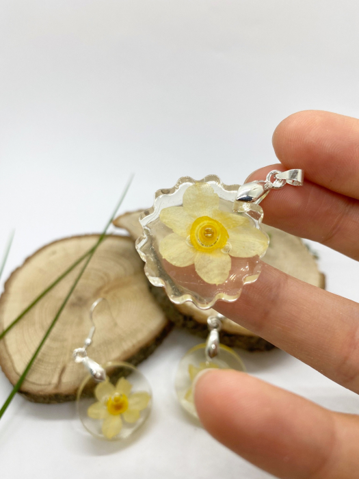 Set de bijuterii cu narcise - Set bijuterii handmade [1]