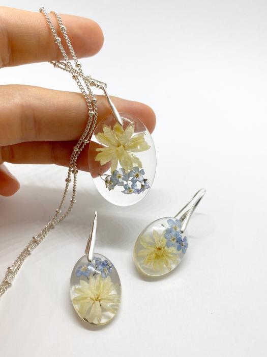 Set de bijuterii cu flori - Set bijuterii handmade [6]