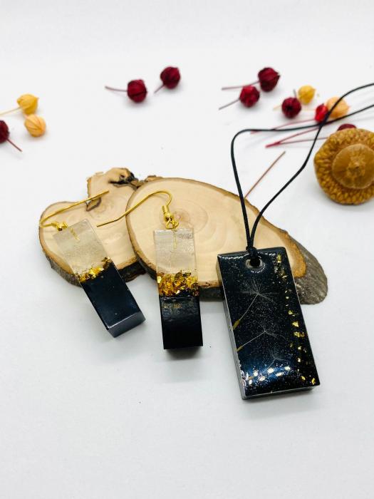 Set de bijuterii din foita de aur si fire de papadie [5]