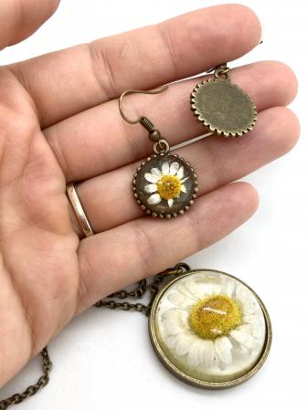 Set de bijuterii cu margarete8