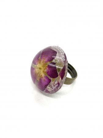 Inel cu floare de trandafir salbatic2