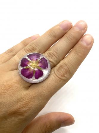 Inel cu floare de trandafir salbatic6