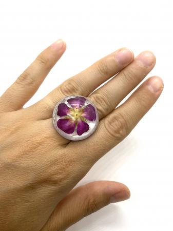 Inel cu floare de trandafir salbatic7