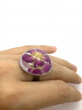 Inel cu floare de trandafir salbatic8