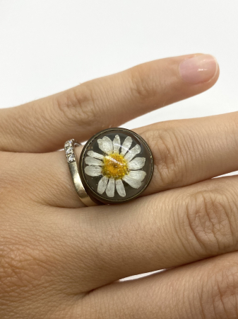 Inel handmande cu flore de margareta cercercei [1]