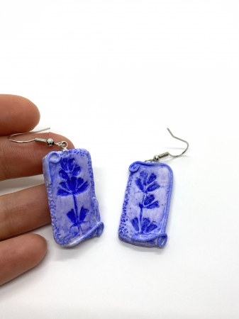 Cercei handmade cu lavanda [1]