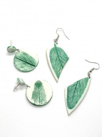 Cercei cu frunza - Cercei handmade [3]