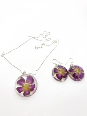 Set de bijuterii din argint cu trandafiri salbatici [2]